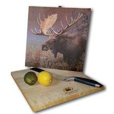 """Chocolate Moose 12"""" x 12"""" Cutting Board"""