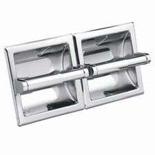 Commercial Hotel / Motel Double Recessed Toilet Toilet Toilet Paper Holder in Polished Chrome
