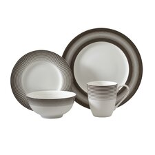 Licorice 16 Piece Dinnerware Set