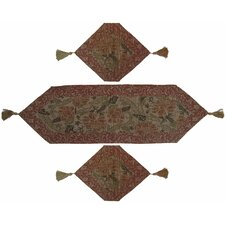 Floral 3 Piece Woven Table Runner Set