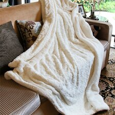 Luxury Roses Faux Fur with Sherpa Throw Blanket