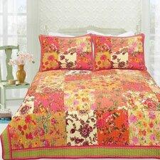 Bed of Roses Floral Quilt Set
