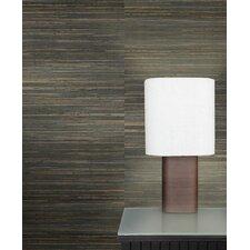 "Raw Grasscloth 18' x 36"" Stripes Wallpaper"