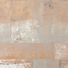 "Henge Faux Metal Trompe L'oeil 32.97' x 20.8"" Abstract Wallpaper"