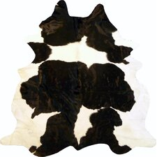 Extra Large Brazilian Cowhide Black & White Area Rug