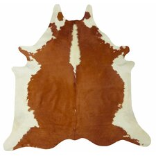 Extra Large Brazilian Cowhide Brown/White Area Rug