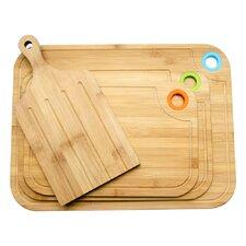 4 Piece Bamboo Cutting Board Set