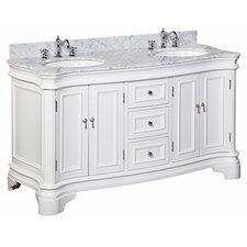 "Katherine 60"" Double Bathroom Vanity Set"