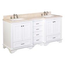 """Nantucket 72"""" Double Bathroom Vanity Set"""