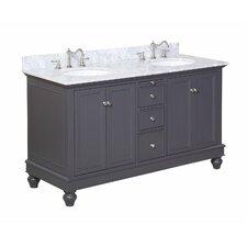 "Bella 60"" Double Bathroom Vanity Set"