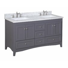 "Abbey 60"" Double Bathroom Vanity Set"