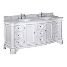 Katherine 72-inch Bathroom Vanity Set (Carrara/White)