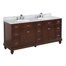 """Amelia 72"""" Double Bathroom Vanity Set"""