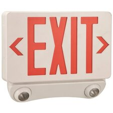 Combination LED Light Exit Sign