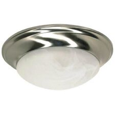 Twist and Lock 1 Light Flush Mount