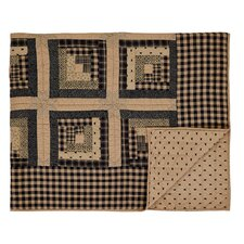 Brockton Cabin Quilted Cotton Throw Blanket