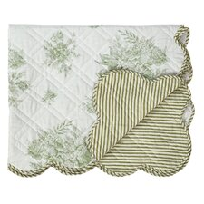 Josephine Quilted Cotton Throw Blanket