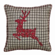 Weston Reindeer Button Pillow Cover
