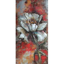 """""""Garden Rose 1"""" Mixed Media Iron Hand Painted Dimensional Wall Décor"""