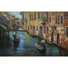 """Venice"" Mixed Media Iron Hand Painted Dimensional Wall Décor"