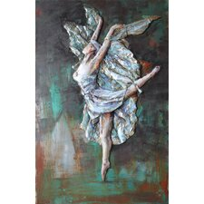 """Prima Ballerina"" Mixed Media Iron Hand Painted Dimensional Wall Décor"