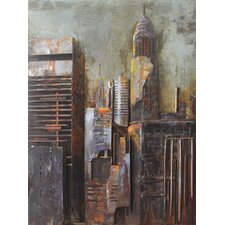 """The Chrysler Building"" Mixed Media Iron Hand Painted Dimensional Wall Décor"