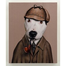 """Pets Rock™ """"Detective"""" Graphic Art on Wrapped Canvas"""