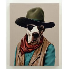 """Pets Rock™ """"Cowboy"""" Graphic Art on Wrapped Canvas"""