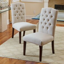 Solid Wood Upholstered Dining Chair (Set of 2)