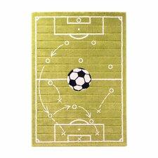 Soccer Grass Green Area Rug