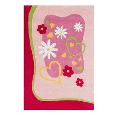 Princess Hand-Tufted Pink Area Rug