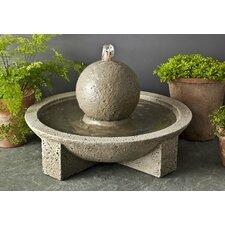 Garden Terrace Cast Stone Sphere Fountain