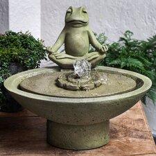 Meditation Cast Stone Garden Terrace Fountain
