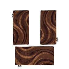 3-tlg. Teppich-Set Marigold in Braun