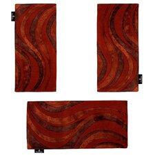 3-tlg. Teppich-Set Marigold in Rot