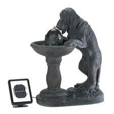 Resin Thirsty Dog Solar Fountain