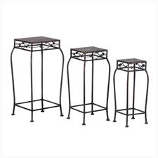 3 Piece French Market Plant Stand Set