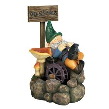 Resin On Strike Gnome Water Fountain