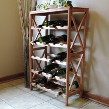 Barhop 25 Bottle Floor Wine Rack