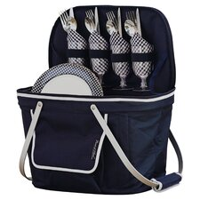 Insulated Picnic Basket with Four Place Settings