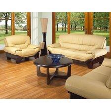 Berghoff 3 Piece Leather Sofa Set
