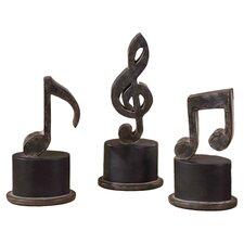 3 Piece Music Note Sculpture Set