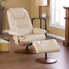 Fin City Ergonomic Recliner and Ottoman