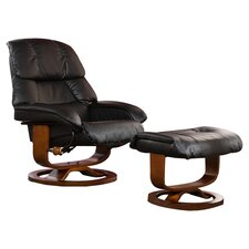 Broken Tooth Standard Recliner and Ottoman