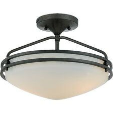 Black Birch Medium Semi Flush Mount