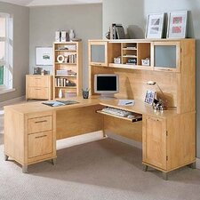 "Powder Hollow Collection 70"" Desk Home Office Suite"