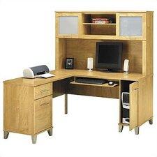 4 Piece L-Shape Desk Office Suite