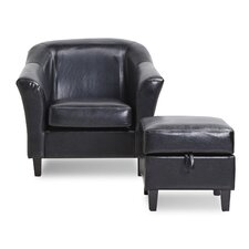 Lone Peak Club Chair and Ottoman
