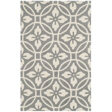 Baranof Hand-Hooked Gray/Ivory Indoor/Outdoor Area Rug