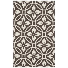 Bayou Hand-Hooked Chocolate/Ivory Indoor/Outdoor Area Rug